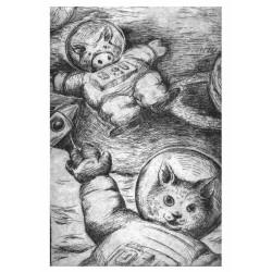 Carte Postale Cochon et Fermier 3