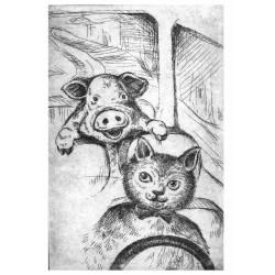 Carte Postale Cochon et Fermier 5